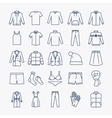 Clothes linear icons vector image