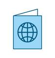 color blue passport cartoon vector image