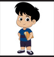 cute kid holding a book vector image