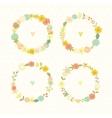 Cute vintage floral frames Summer flowers vector image