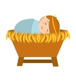 manger character cartoon isolated icon vector image