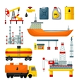 Oil Industry Icons Collection vector image