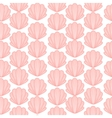 Pink shell cute seamless pattern vector image