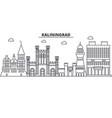 russia kaliningrad architecture line skyline vector image