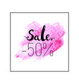 sale lettering sign vector image