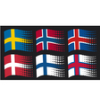Scandinavian flags vector image vector image