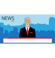 TV broadcast news vector image