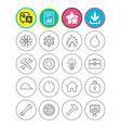 ventilation heat and air conditioning icons vector image