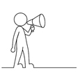 Simple person with megaphone vector image