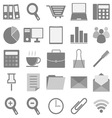 Office icons with white background vector image