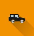 Car icon 6 long shadow vector image