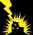 House Struck by Lightning vector image