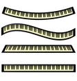 set of keyboards vector image