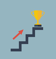 arror on stair to gold cup vector image