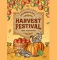 Harvest Festival Poster vector image vector image