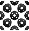 Paatern of black gears with frequent cogs vector image vector image