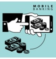 Mobile banking euro vector image