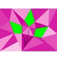 plant of geometric shapes vector image