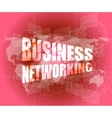 business networking icon on digital screen vector image