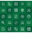Computer repair linear icons vector image