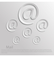 Icon mail vector image