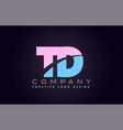 td alphabet letter join joined letter logo design vector image