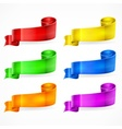 Color ribbons Set vector image vector image