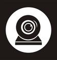 webcam single icon web video chat symbol camera vector image