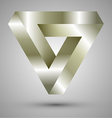 infinite triangle vector image vector image