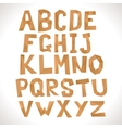 Paper alphabet Polygonal letters vector image