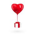 baloon and gift vector image