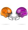 American Football Helmets vector image