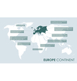 european continent facts vector image