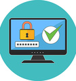 Computer security concept Flat design Icon in vector image
