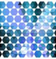 Retro blue pattern of geometric shapes vector image