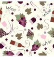 Seamless pattern vintage wine vector image