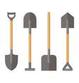 shovel set on white background vector image