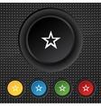 Star sign icon Favorite button Navigation symbol vector image