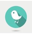 Trendy round bird icon vector image
