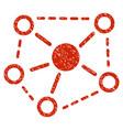 molecule links grunge icon vector image