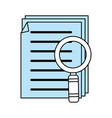 color silhouette image of search files with tool vector image