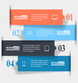 Abstract paper infographics vector image vector image
