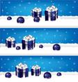 Gift-banner vector image