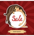 Sale poster with a girl vector image
