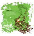 Tea vintage background vector image