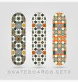 Skateboard set Girly tracery vector image