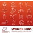 smoking outline icons vector image