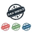 Round San Diego stamp set vector image