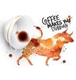 Poster wild coffee bull vector image vector image