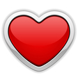 red glossy heart vector image